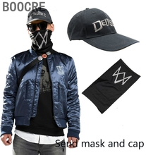Spiel Watch Dogs 2 Marcus Holloway Cosplay Kostüm Jacke Mantel Senden Maske Cap