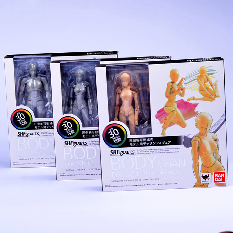13-14cm SHF SHFiguarts Body Kun/Body Chan Archetype HE/SHE Ver PVC Action Figure Draw Mannequin Collectible Model Toy Dolls Kids