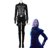 Black Widow Natasha Romanoff Cosplay Avengers 3 Infinity War Costume Heroine Black Outfit Halloween Carnival Uniform Custom Made