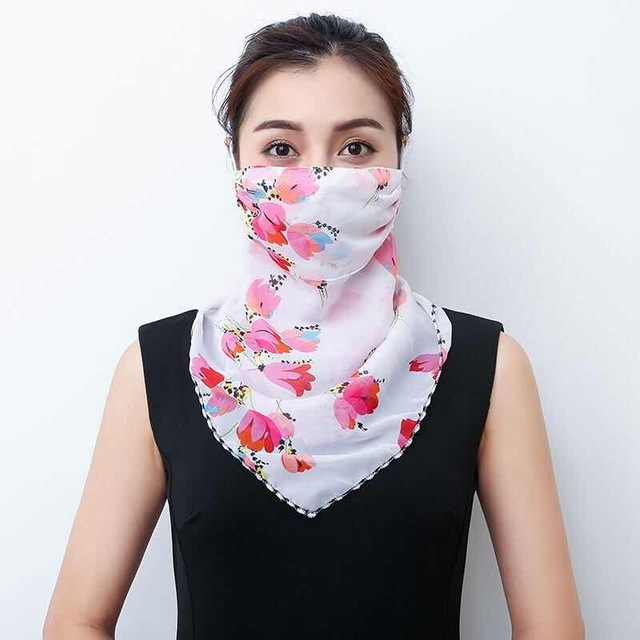 2020 Hot sell mouth mask Lightweight Face Mask scarf Sun Protection Mask Outdoor Riding Masks Protective silk Scarf Handkerchief 2