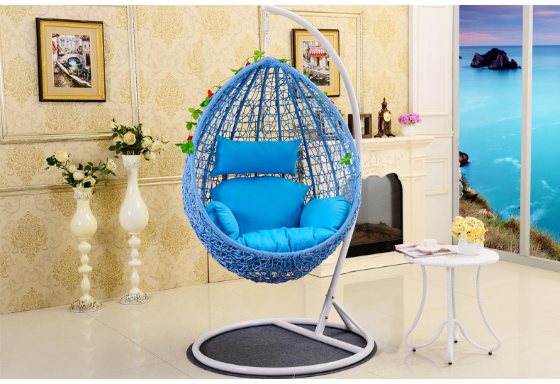 Balcony Single adult small basket hanging chair indoor and outdoor ...