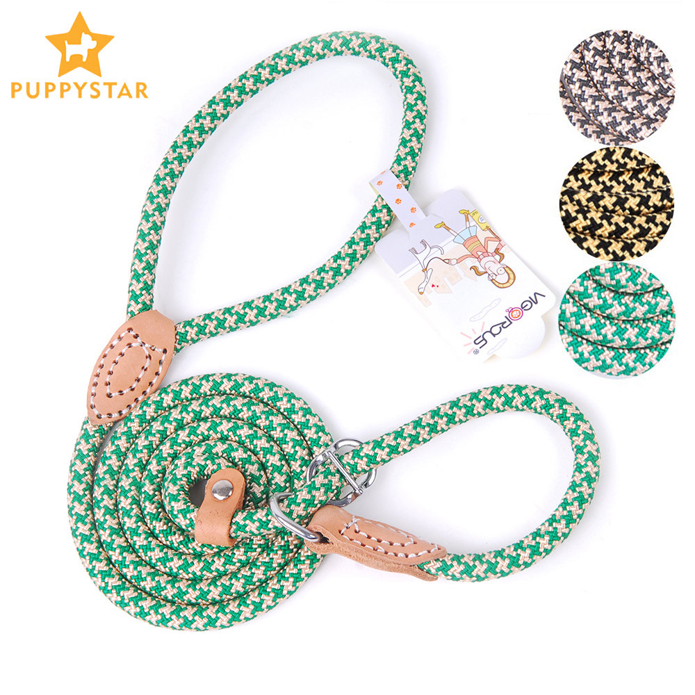 Pet Products Dog Leashes Collar For Large Dogs Nylon Dog-Collar Leashes Harness Small Dogs Collars Leash Set Lead Rope K9 PY0236
