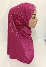 Venda softy envoltório islâmico merly conveniente muçulmano hijab com flor
