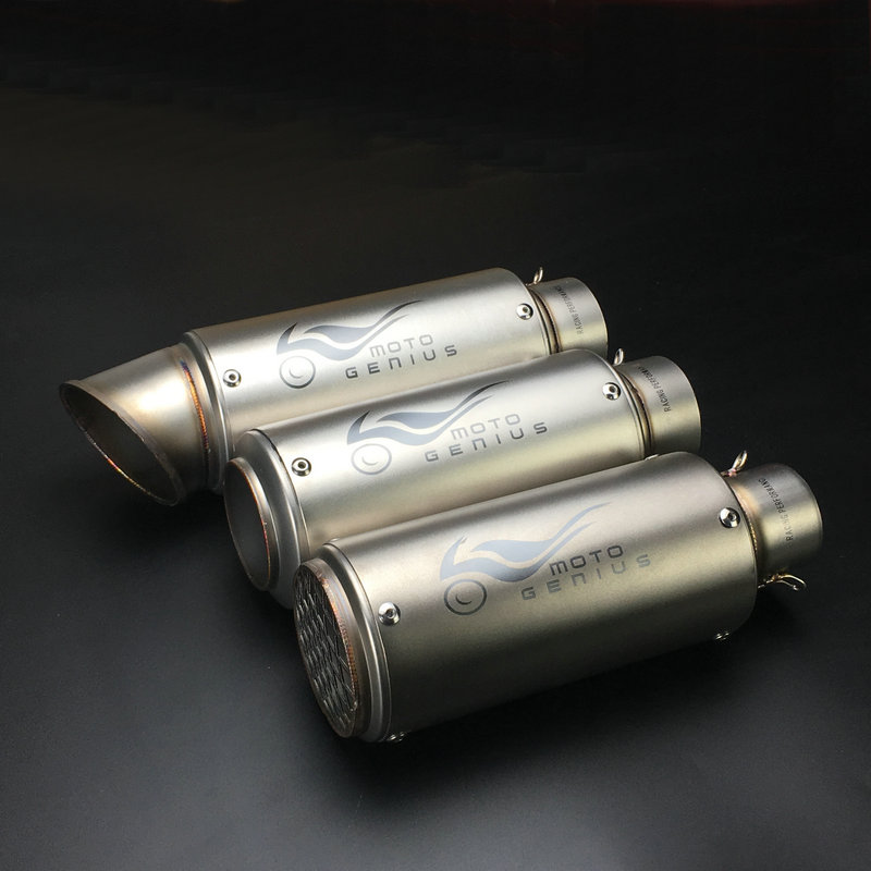 Universal Motorcycle Exhaust Pipe Muffler GP Exhaust Muffler Personalized Motorbike Escape With Brand Laser Logo