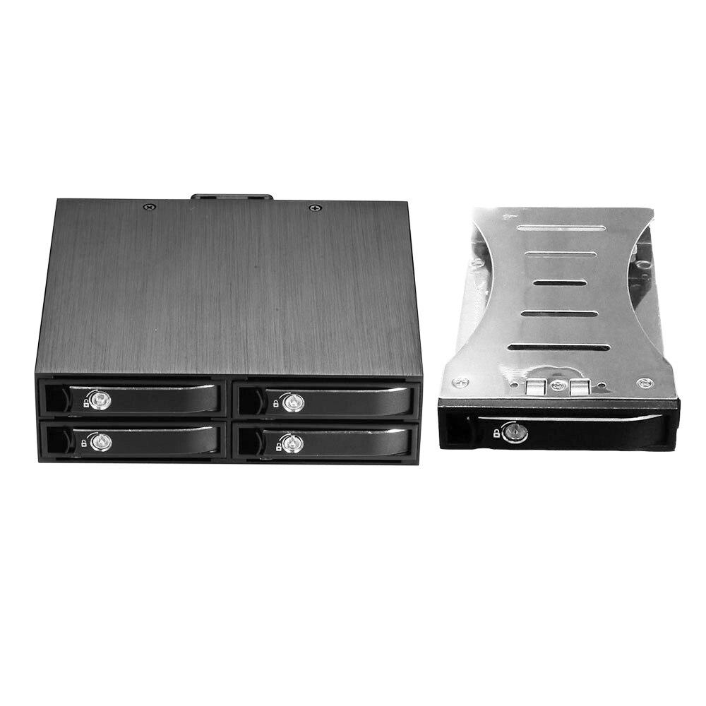 Optibay 2.5in 4bay SATA Hard Drive Case Backplane Hdd 2.5 Ssd Bay Internal HDD Mobile Rack  For 5.25 Drive Bay