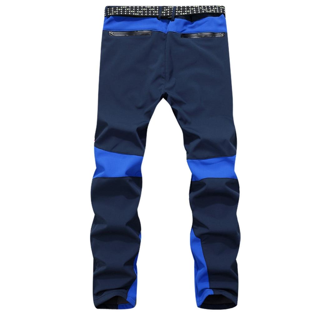 Men pants Waterproof Windproof Outdoor Sports pants men Patchwork Warm Winter Thick Pants fashions men Trousers c0413