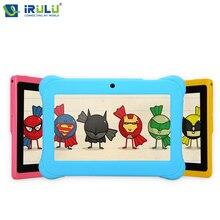 Y1 irulu 7 «BabyPad Для Образования Детей Quad Core Android Tablet PC для Детей RAM 1 ГБ ROM 0.3MP 8 ГБ Силиконовый Чехол подарок Горячие
