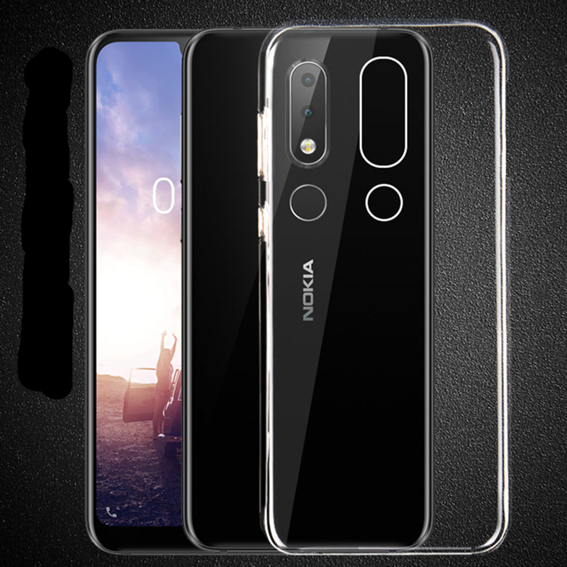 Anti-knock Phone case For <font><b>Nokia</b></font> 2.1 5.1 3.1 X6 6 2018 <font><b>6.1</b></font> 7 plus 1 9 8 7 5 3 2 1 Phone <font><b>TPU</b></font> Silicone Transparent Soft slim cases image