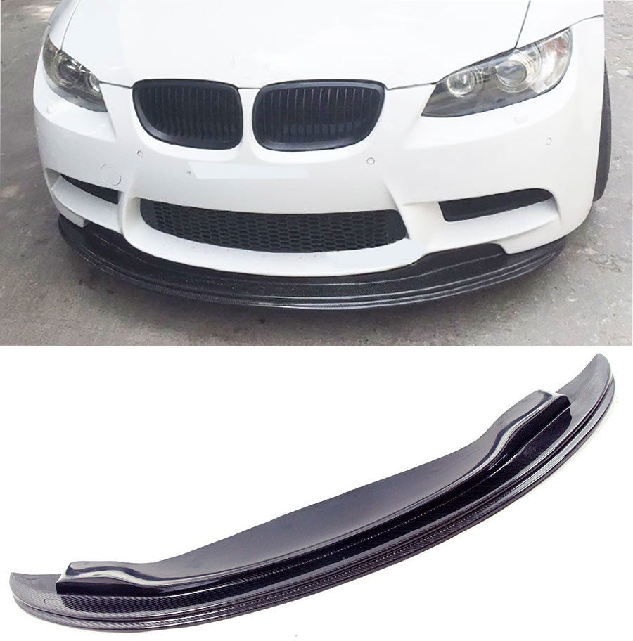 G-T Style Carbon fiber Front Lip Spoiler Fit For BMW E90 E92 E93 M3 olotdi carbon fiber front lip spoiler gts style front bumper for bmw e92 e93 m3 bumper car styling accessories factory