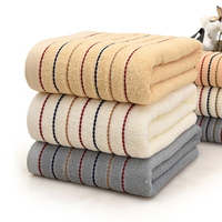 3pcs 100% Cotton Solid Bath Towel Beach Towel For Adults Fast Drying Soft 3 Colors Thick High Absorbent Antibacterial