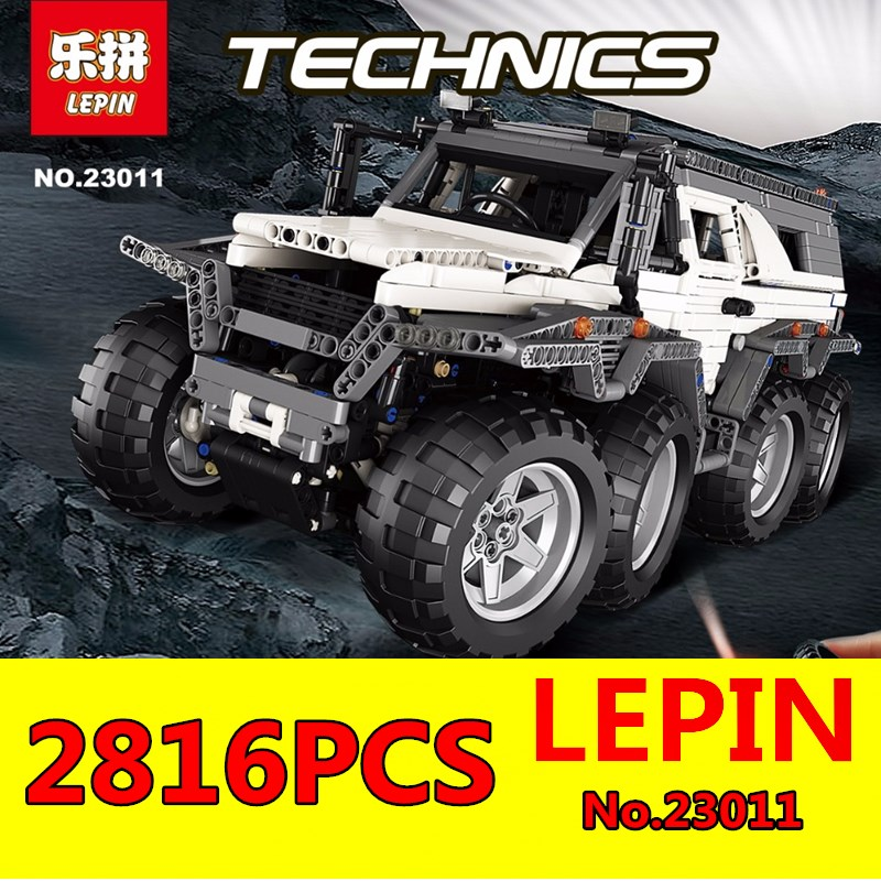 LEPIN 2816pcs 23011 Technic Series Off-road Vehicle Model Building Blocks Bricks Kits Compatible 5360 Boy Toys Brithday Gifts free shipping lepin 21002 technic series mini cooper model building kits blocks bricks toys compatible with10242
