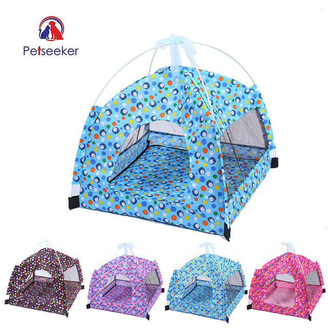 Portable Foldable Pet Dog Tent House Breathable Print Pet Cat House with Net Outdoor Indoor Mesh Cat Small Dog Tent House Summer  sc 1 st  Aliexpress & Portable Foldable Pet Dog Tent House Breathable Print Pet Cat House ...