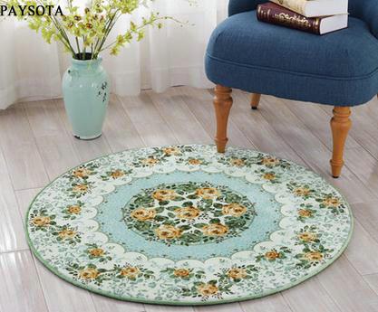 Paysota circolare tappeto camera da letto casa soggiorno tea table letto coperta sedia del - Letto circolare ...