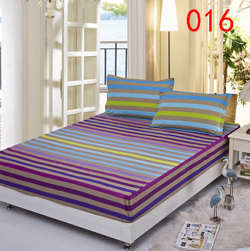 Charmant Stripe Polyester Fitted Sheet Single Double Bed Sheets Fitted Cover Twin  Full Queen Mattress Cover Bedspread
