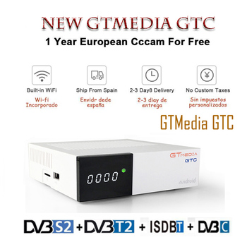 GTmedia GTC Receptor Android 6.0 TV BOX DVB-S2 DVB-C DVB-T2 Amlogic S905D 2GB 16GB +1 Year cccam Satellite TV Receiver TV Box