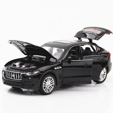 1/32 car model Martha Levante SUV alloy simulation pull back 6 door sound and light toy