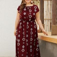 Women Summer Dresses Ethnic Style Boho Beach Wear Plus Size