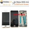 Tela de lcd para meizu m3s mini nova tela com moldura de substituição display lcd + touch screen + ferramentas para meizu m3s mini 5.0 polegada