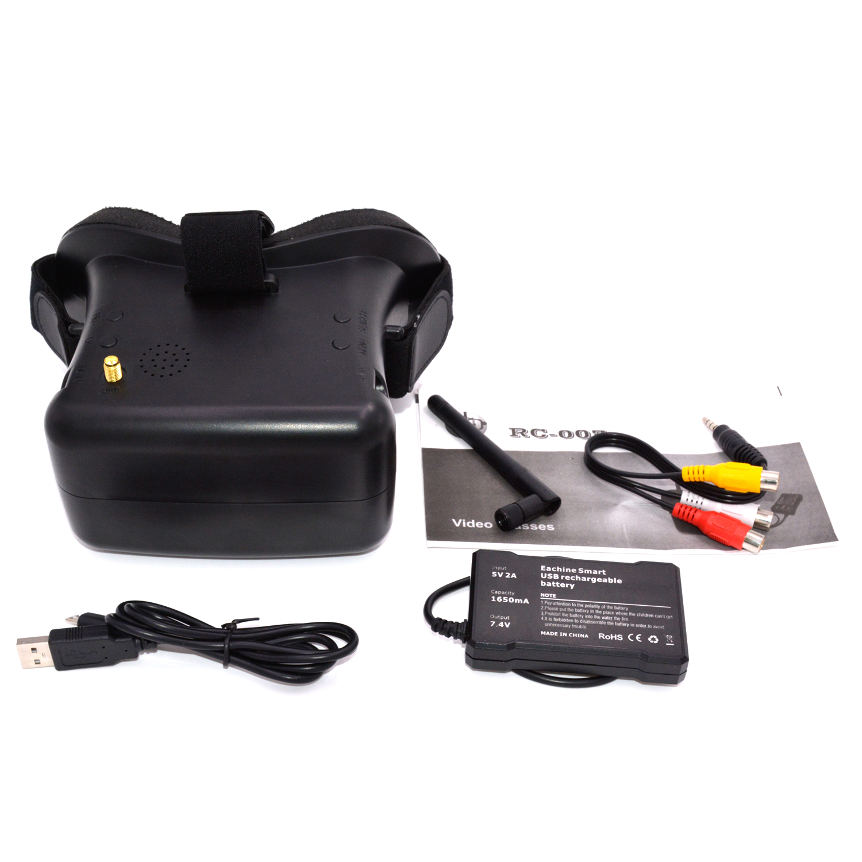 RC 007 3D 5,8G 40CH Zoll HD FPV gläser Bildschirm Empfänger + Batterteries - 2