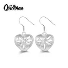 Korean fashion luxury charm drop pierced earrings zircon women love jewelry wholesale gift free shipping E315