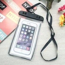 À prova dwaterproof água caso de smartphone para o telefone bolsa saco 6.7 polegada subaquática luminosa caixa do telefone para o iphone xr 6 7 huawei xiaomi universal