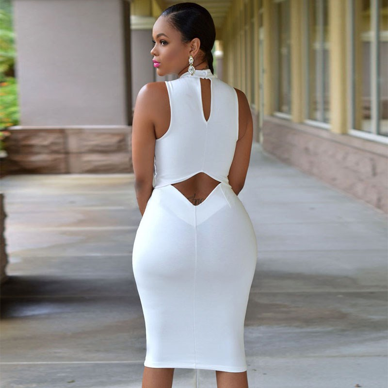 2f59bcfff2796 2015 Women Cutout Back Turtle Neck Midi Sexy Club Dress Bodycon Package Hip Midi  Dress Sexy Night Club Wear 3 colors -in Dresses from Women s Clothing on ...