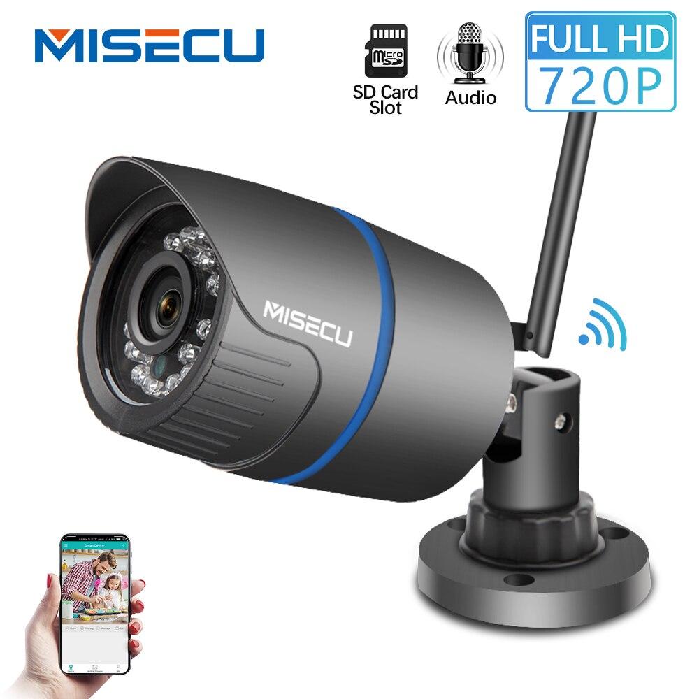 MISECU H.264 + Wifi kamera Audio gebaut SD karte 2,8mm Wifi 1280*720 P P2P ONVIF Drahtlose e-mail alarm nachtsicht IR Außen CCTV