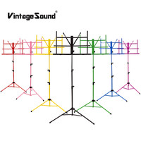 Collapsible Universal Music Stand For Sheet Music Guitar Piano Portable Holder Folding Foldable Instrument Books Lightweight