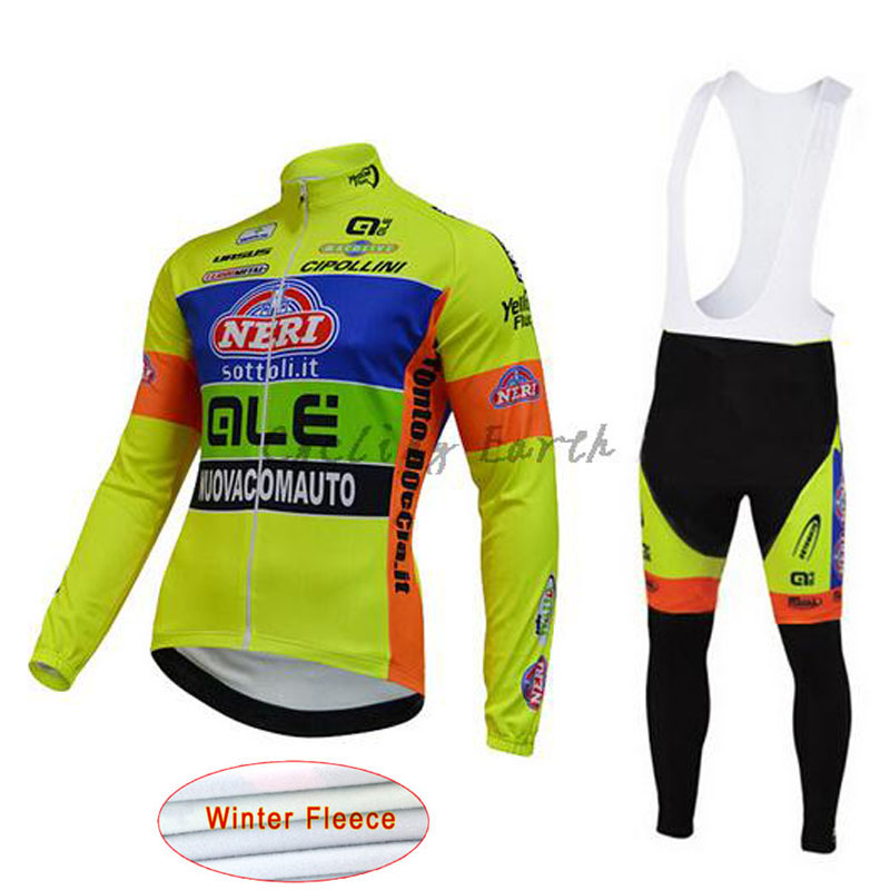 Cycling Jersey ALE Pro Team Bike Clothing Long sleeves clothes Winter Thermal Fleece sportswear Ropa uniformes ciclismo hombre A men thermal long sleeve cycling sets cycling jackets outdoor warm sport bicycle bike jersey clothes ropa ciclismo 4 size