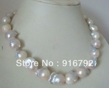 free shipping >>>>>AAA 18-23mm south sea white baroque pearl necklace 18inch