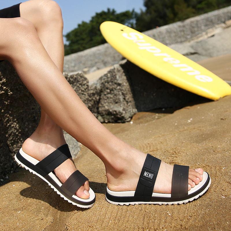 LAISUMK Summer Beach Men Slippers Casual Shoes Double Buckle Man Slip on Flip Flops Flats Camouflage Flip Flop Indoor & Outdoor 91