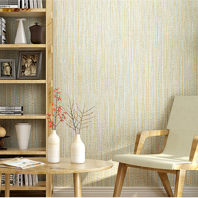 Moderne Einfache Stroh Tapete Rollen Solide Farbe Strukturierte Tapeten Für  Wohnzimmer Schlafzimmer Arbeitszimmer