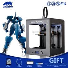 2016 Новая Версия 3D Принтер, WANHAO D6 ith Алюминиевого Профиля, 45 градусов ЖК-дисплей, 2 Рулона Нити, 8 ГБ SD карты как Подарок