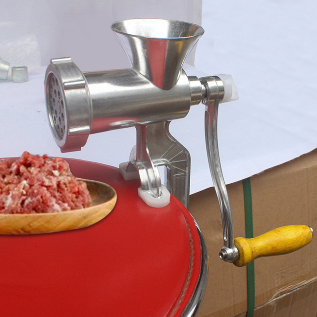 Meat grinder and manual sausage machine
