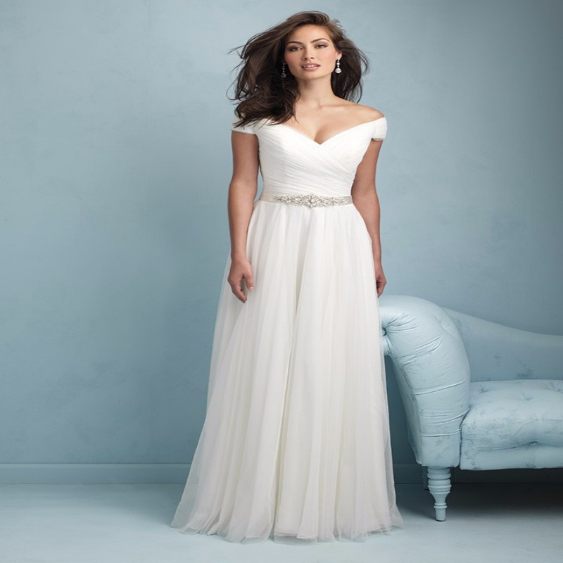 Latest Wedding Gowns 2015: 2015 New Audrey Hepburn Style Wedding Dress Tulle A Line