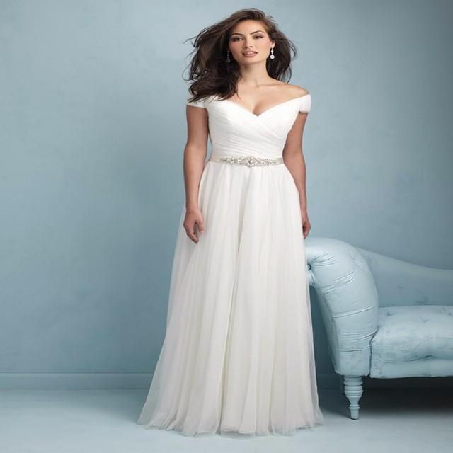 2015 New Audrey Hepburn Style Wedding Dress Tulle A line Bohemain ...