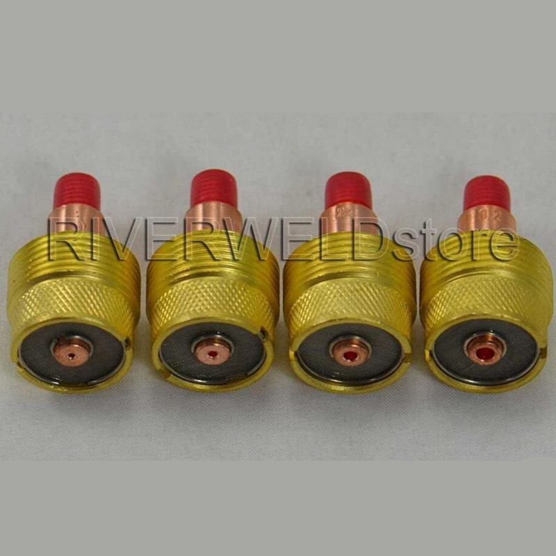 4pcs Collets Body Gas Lens Kit Fit For WP-9 WP-20 WP-25 Series TIG Welding Torch