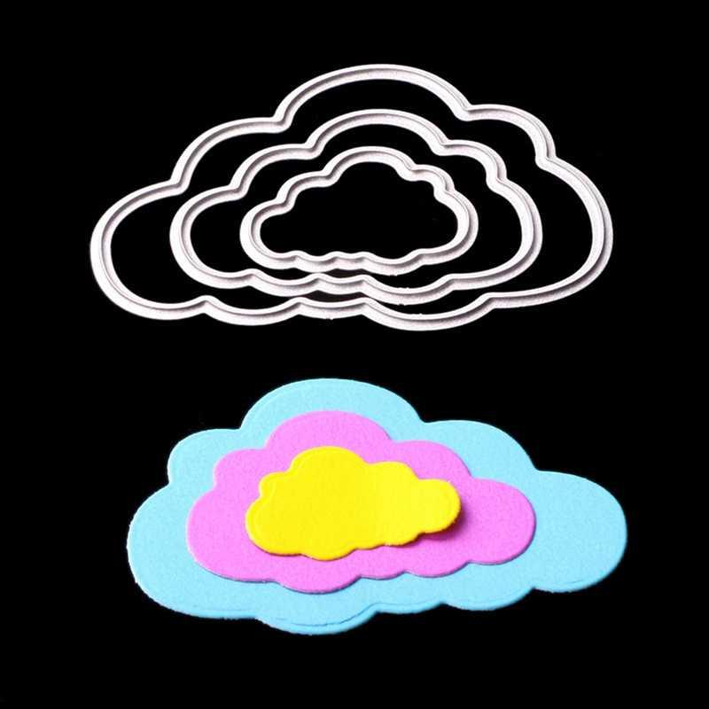 3ピース雲メタルダイ切断死ぬスクラップブッキングエンボス加工フォルダスーツ用ビッグショット切断機