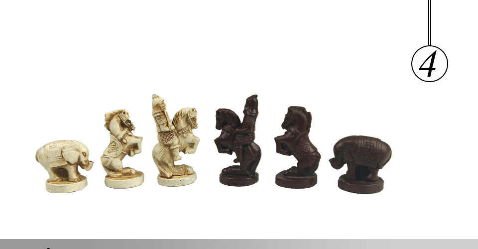 Easytoday Chinese Chess Games Synthetic Leather Chessboard Chinese Terracotta Warriors Resin Chess Pieces Table Games Birthday Gift (4)