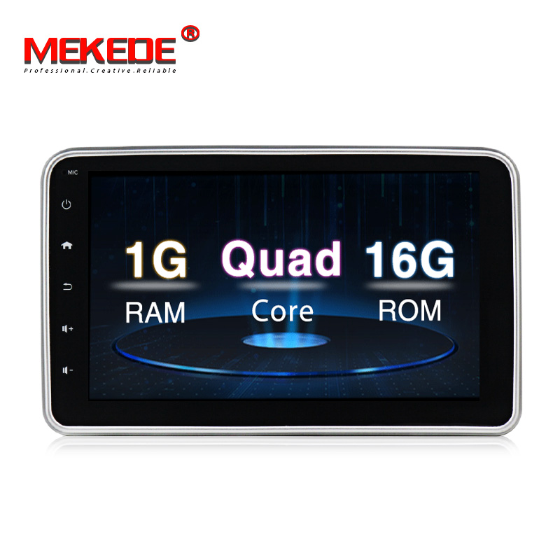 MEKEDE 81din Quad Core 1Gb+16GB Universal car Radio 360 degrees Rotatable Face Panel Car Stereo GPS navigation Player