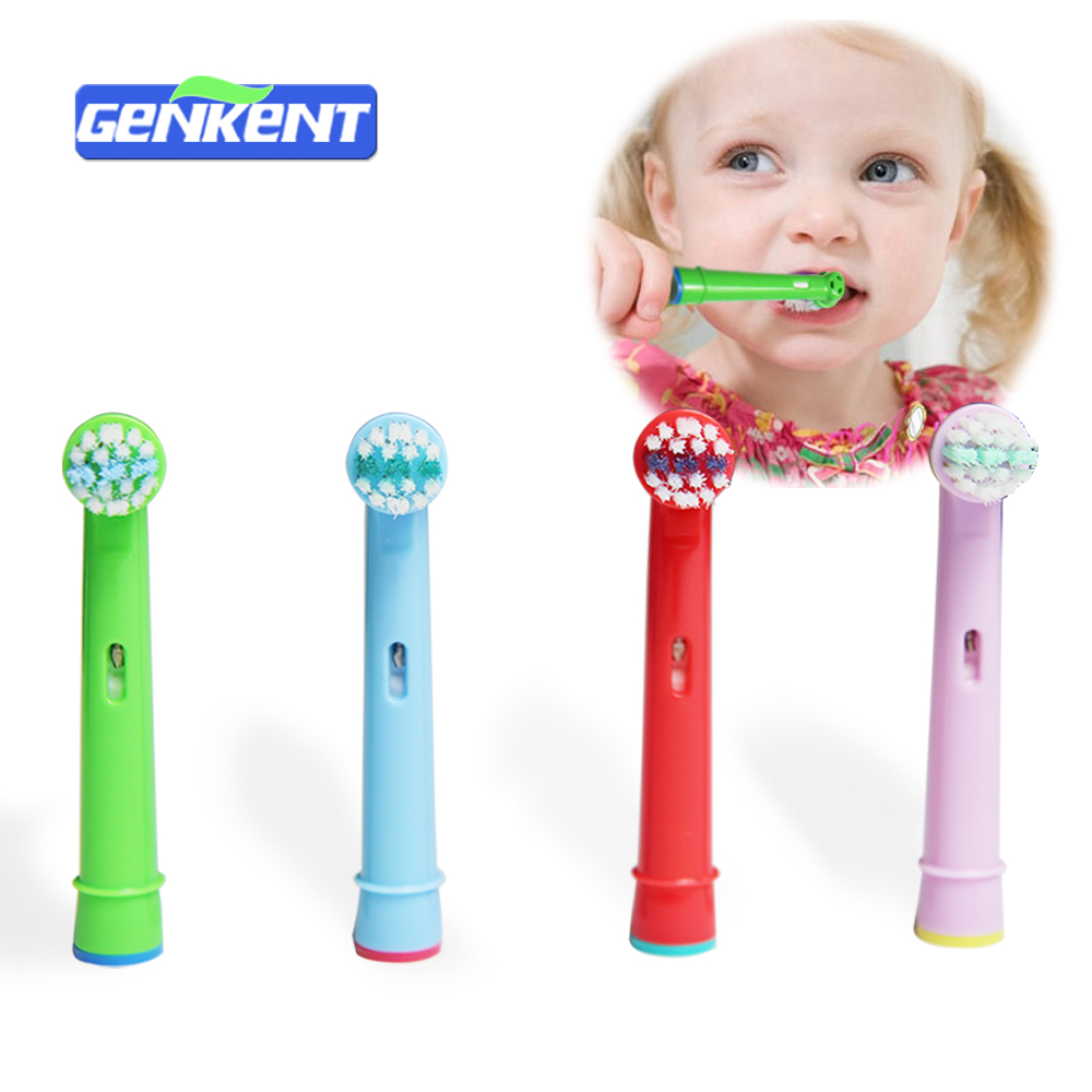 4pcs Tooth Brush Heads Replacement Children kids Brush Heads fit for Oral Pro-Health B Stages Dory Electric Toothbrush ckeyin cartoon dolphin children music electric toothbrush led tooth brush 22000 min kids sonic toothbrush electric 3 brush heads