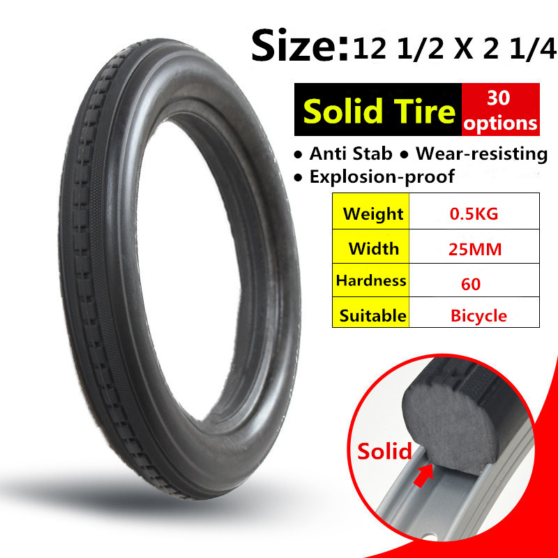 12 1 2 2 1 4 inches solid tire for bicycle 12inch 12 1 2x2. Black Bedroom Furniture Sets. Home Design Ideas