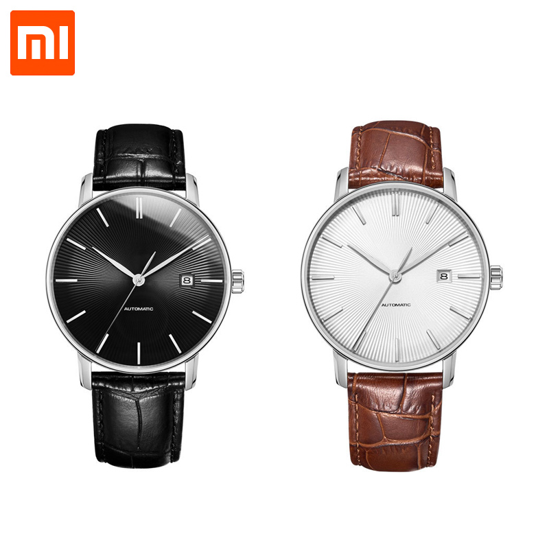 NEWEST Original Xiaomi TwentySeventeen Light Mechanical Watch With Sapphire Surface And Leather Strap Fully automatic movement