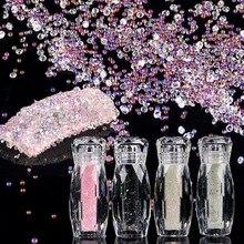 new style 1 Bottle Mini Caviar Beads Crystal Tiny Rhinestones Glass Micro Bead For 3D Glitter Nail Art Decorations цена