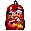 17 Polegada Mickey Minnie Mouse Mochila Clube da Casa das Crianças Saco de Escola Da Criança Dos Desenhos Animados Mochilas Saco Mochila para Presente de Natal