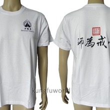 Белая хлопковая форма для боевых искусств кунг-фу топ футболки Китайский Тай-чи костюм Единоборства крыло Chun униформа