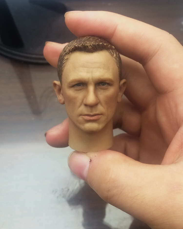 1/6 scale figure doll head shape for 12 action figure doll accessories James Bond 007 Daniel Craig male Head carved 1 6 scale figure doll head shape for 12 action figure doll accessories iron man 2 whiplash mickey rourke male head carved