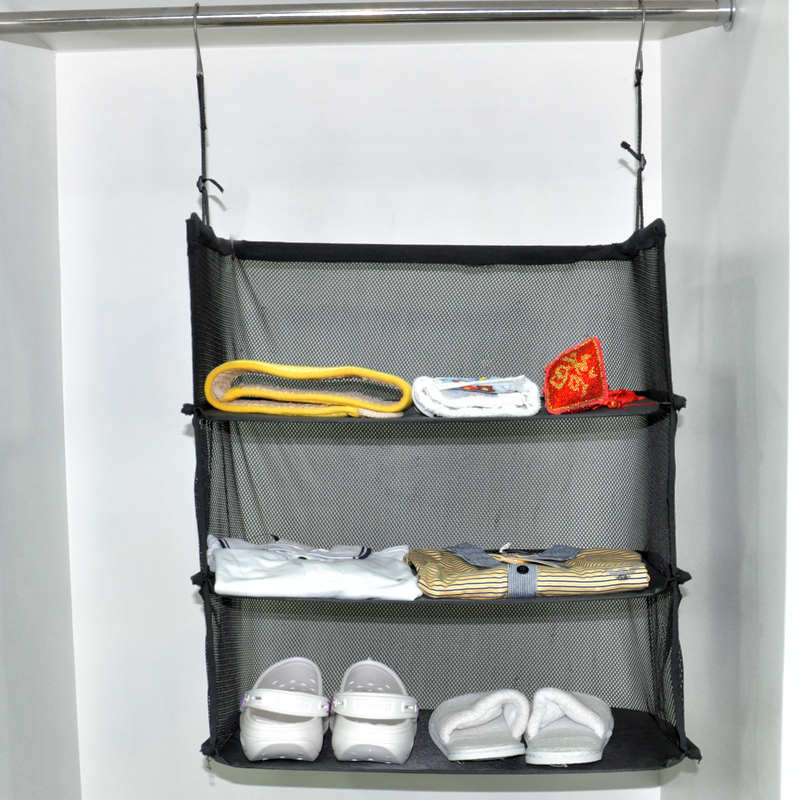Travel Luggage Organize Storage Suitcase Hanging 3 Shelves To Go Portable Organizer Clothing Towel Rack In Organizers From