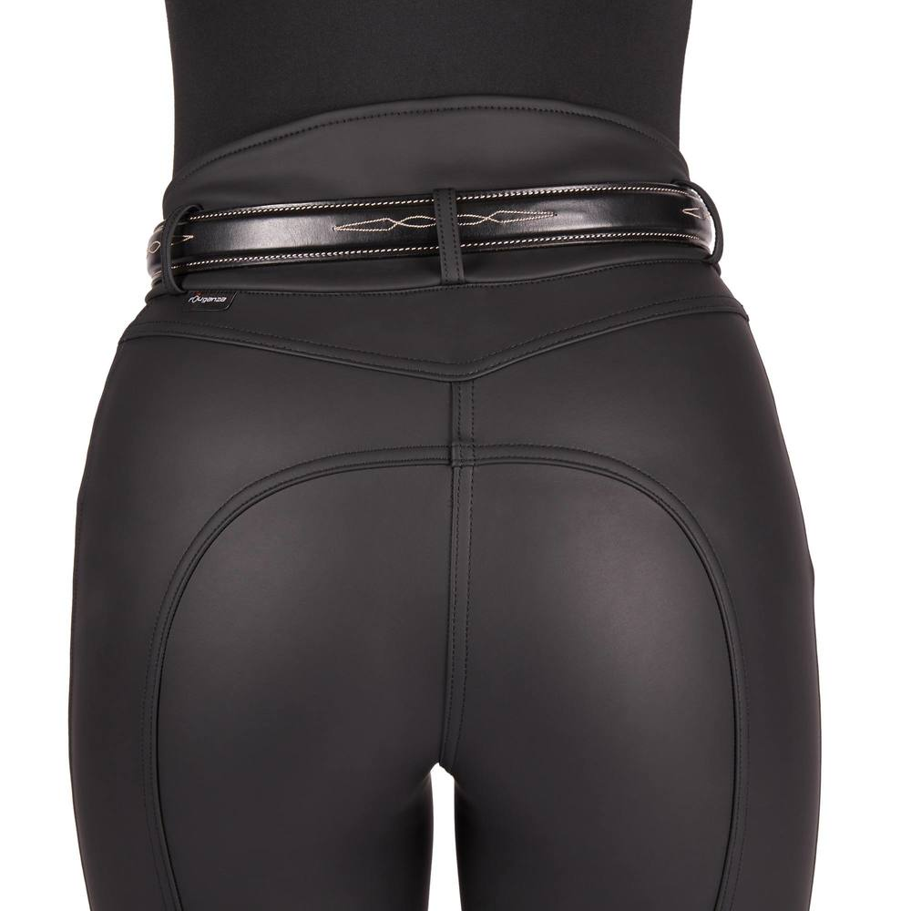 Купить с кэшбэком Women Horse Riding Pants Equestrian Breeches Sports Legging Ladies Knee Patch Jodphurs Riding Pant