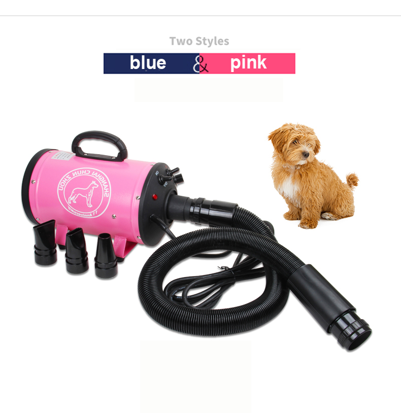 EU Pet Cat Dog Dryer Professional Pet Hair Dryer Blower 2200w High Power Ultra Quiet Stepless Speed Regulation Super Wind